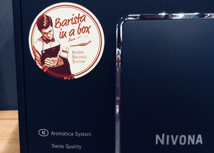 "Kava - lyg paruošta baristo su NIVONA sistema ""Barista in a box"""