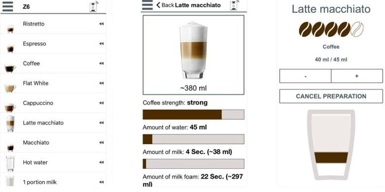 JURA kavos programėlė išmaniajam telefonui