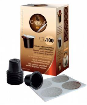 Tuščios kavos kapsulės CapsulIN